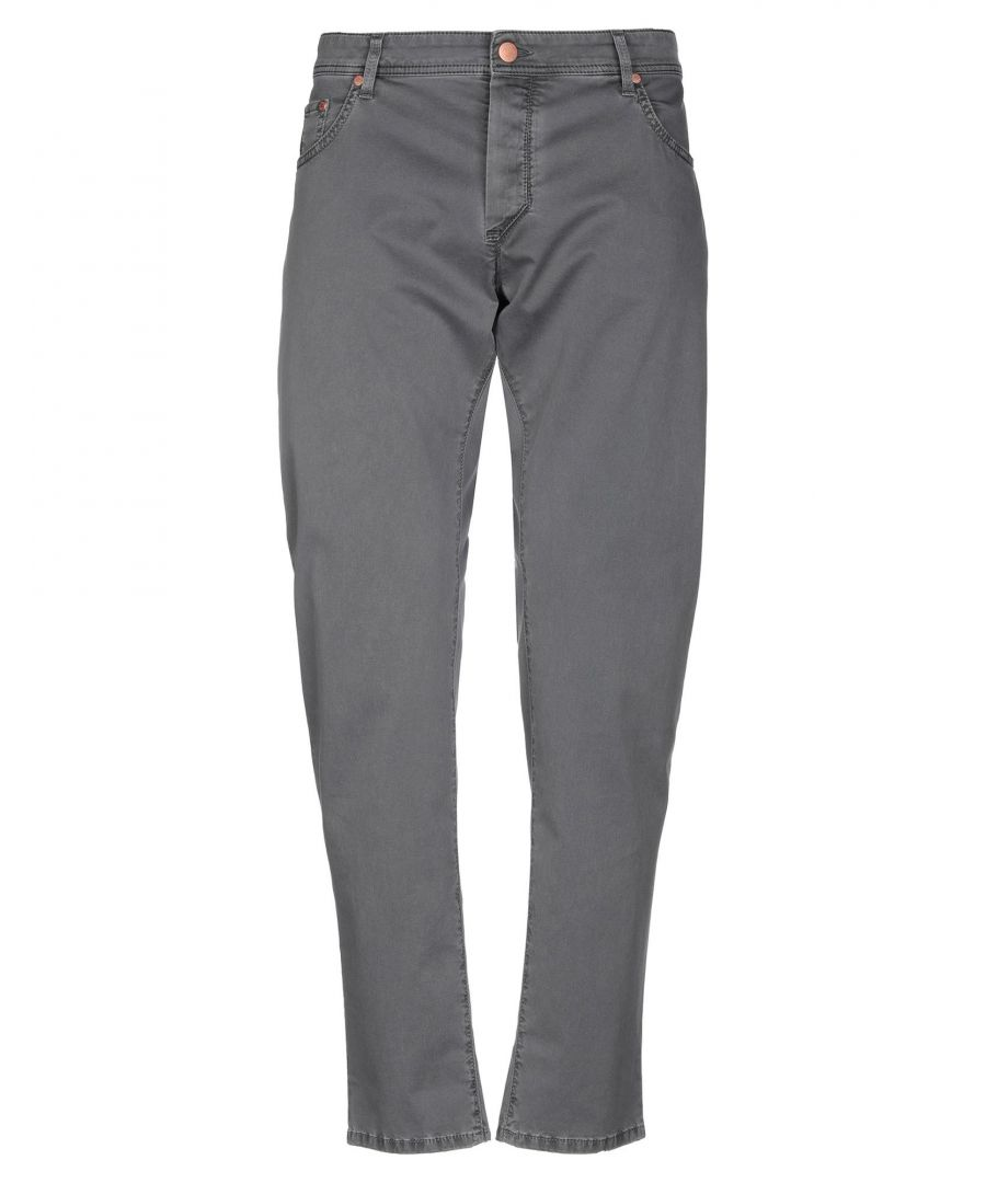 Image for Barba Napoli Grey Cotton Tapered Leg Trousers