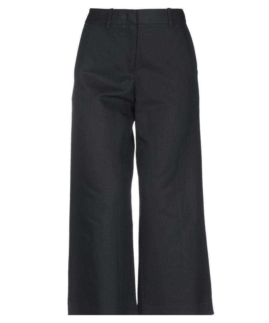 Image for Armani Jeans Dark Blue Cotton Wide Leg Trousers
