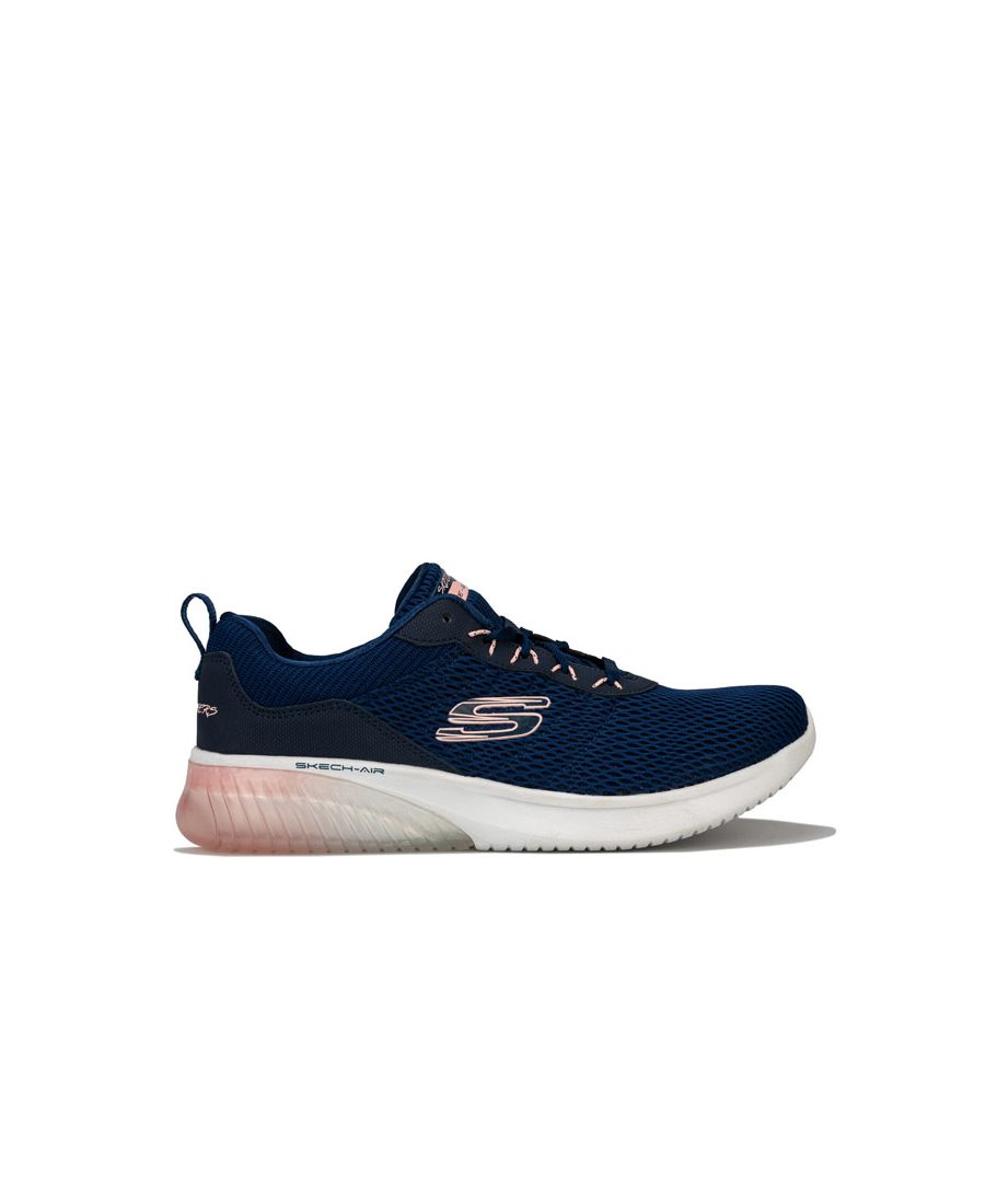 Image for Women's Skechers Skech-Air Ultra Flex Trainers in Navy Pink