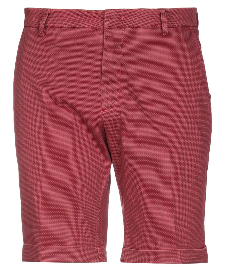 Image for Michael Coal Red Cotton Shorts