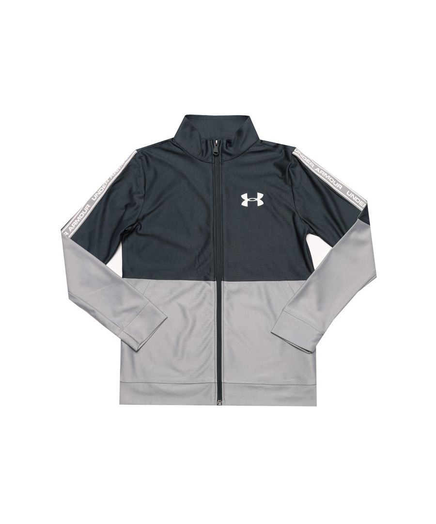 Image for Boy's Under Armour Junior Prototype Jacket in Grey