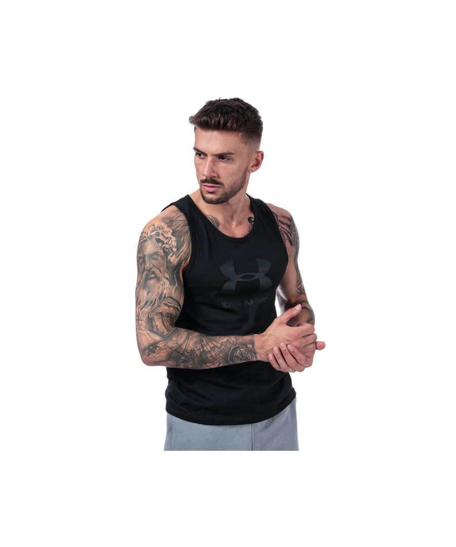 Image for Men's Under Armour Sportstyle Logo Tank Vest in Black