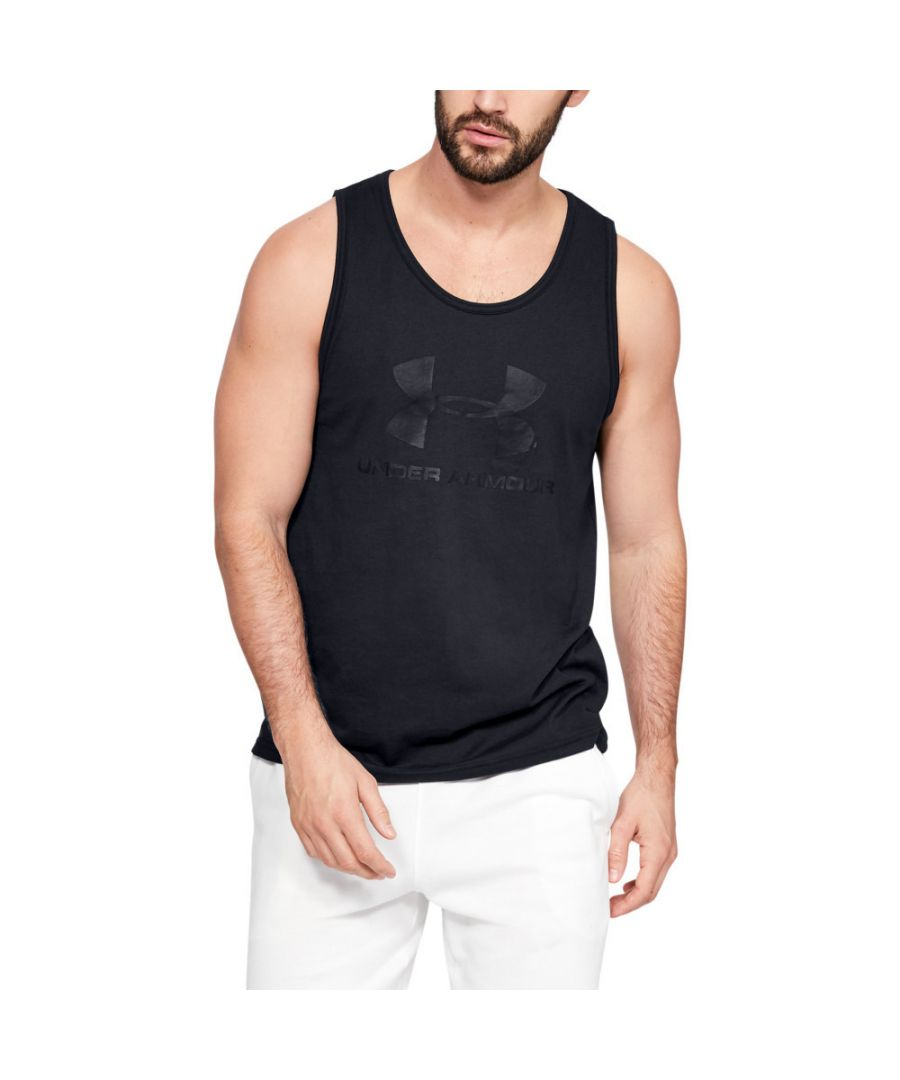 Image for Under Armour Mens Sportstyle Logo Wicking Fitness Tank Top