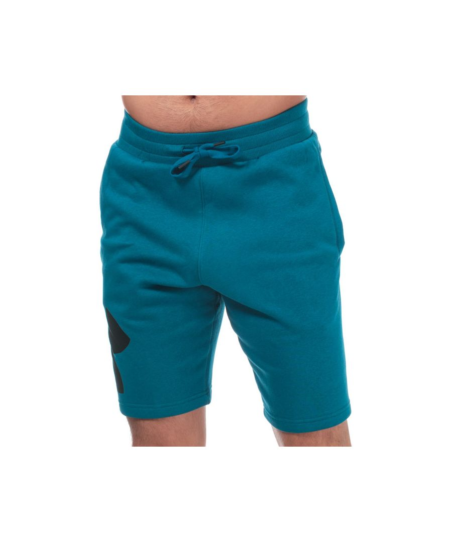 Image for Men's Under Armour Rival Fleece Logo Shorts in Green