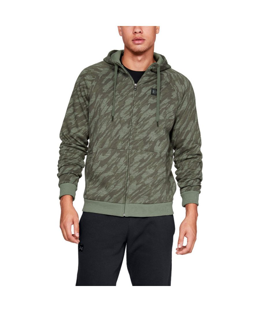 Image for Under Armour Mens Rival Fleece Camo Full Zip Training Hoodie Sweater