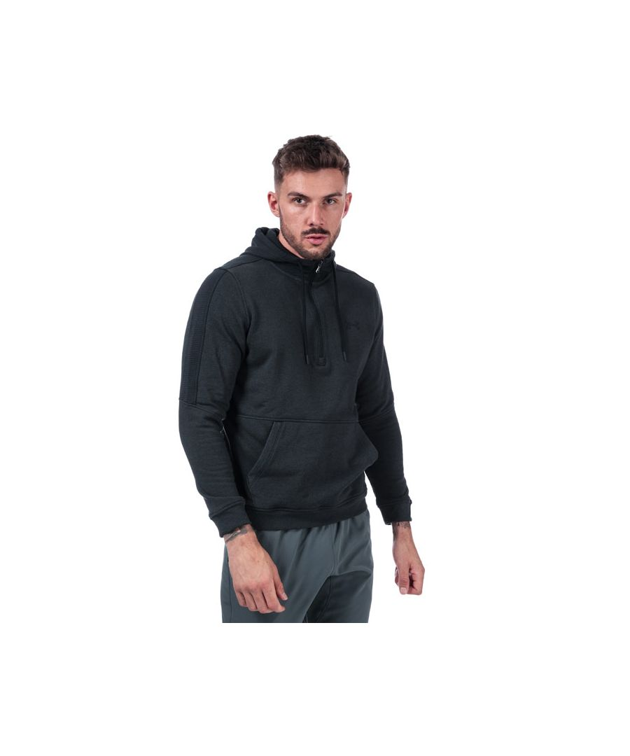 Image for Men's Under Armour Half Zip Microthread Fleece in Black