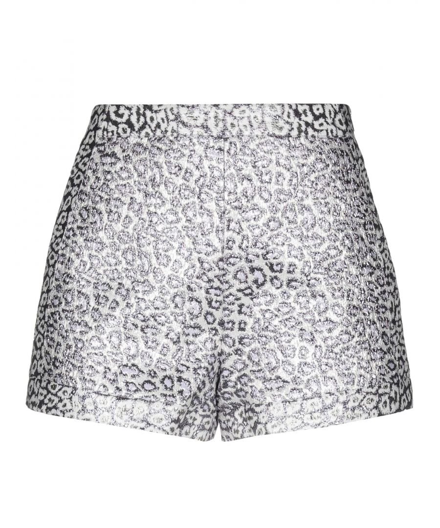 Image for Giamba Ivory Jacquard Leopard Print High Waisted Shorts