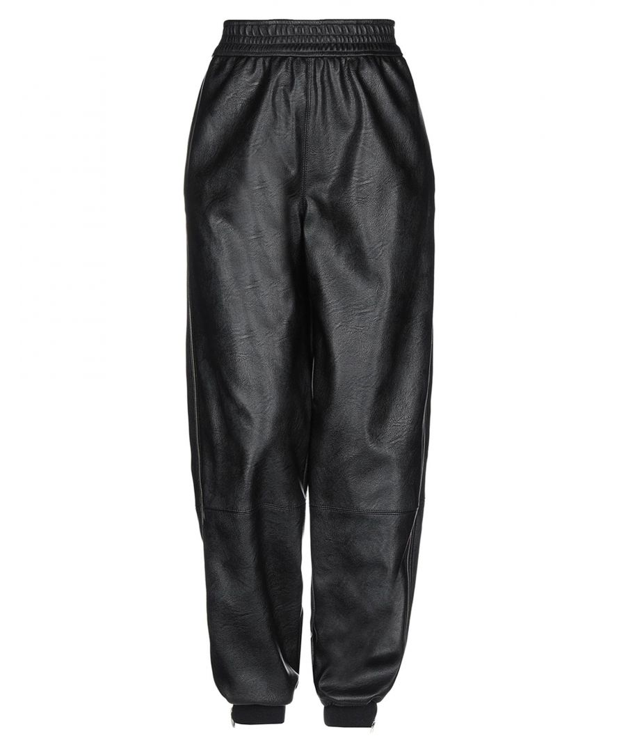 Image for Stella McCartney Black Faux Leather Trousers