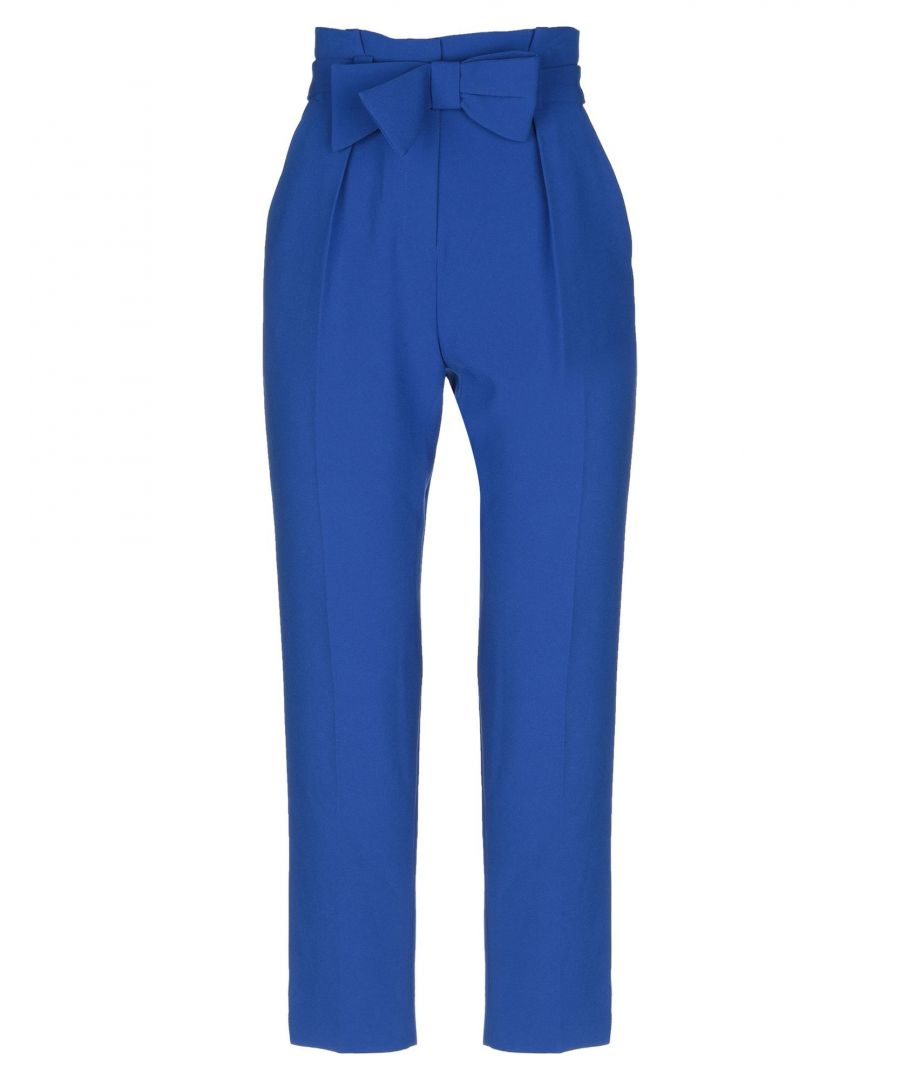 Image for Claudie Pierlot Bright Blue Bow Detail Tapered Trousers