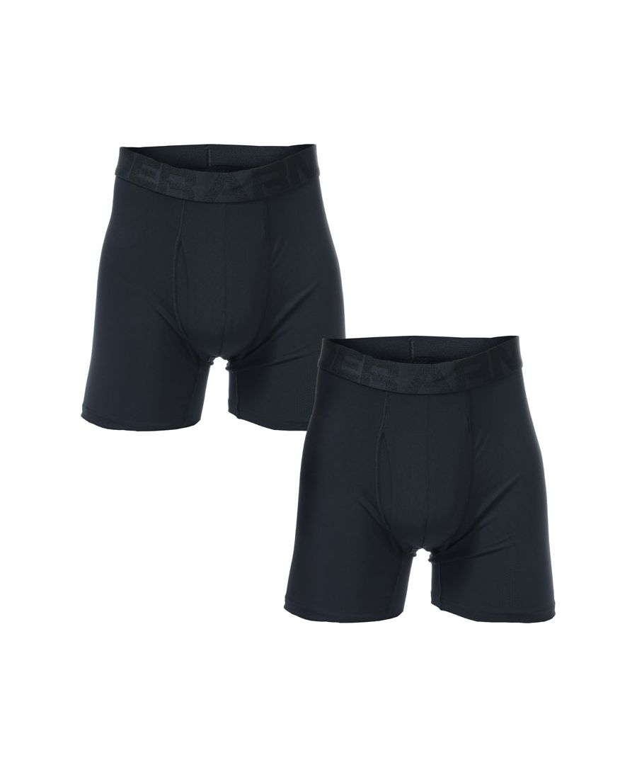 Image for Men's Under Armour Tech Mesh 6 Inch Boxerjock 2 Pack in Black