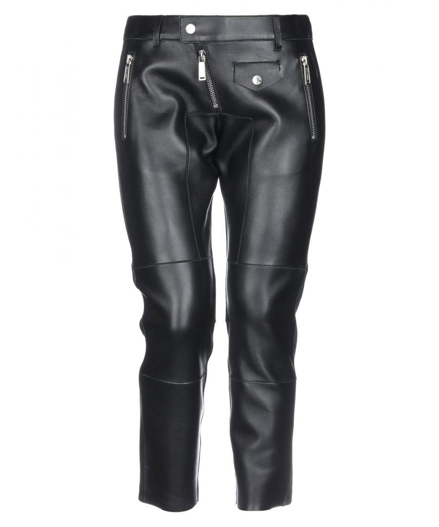 Image for Dsquared2 Black Leather Trousers