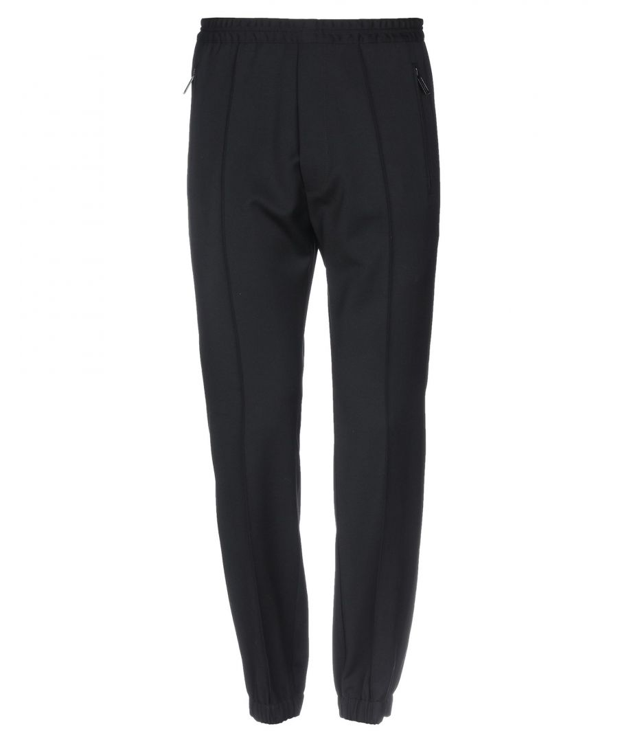 Image for Dsquared2 Black Virgin Wool Tapered Leg Trousers
