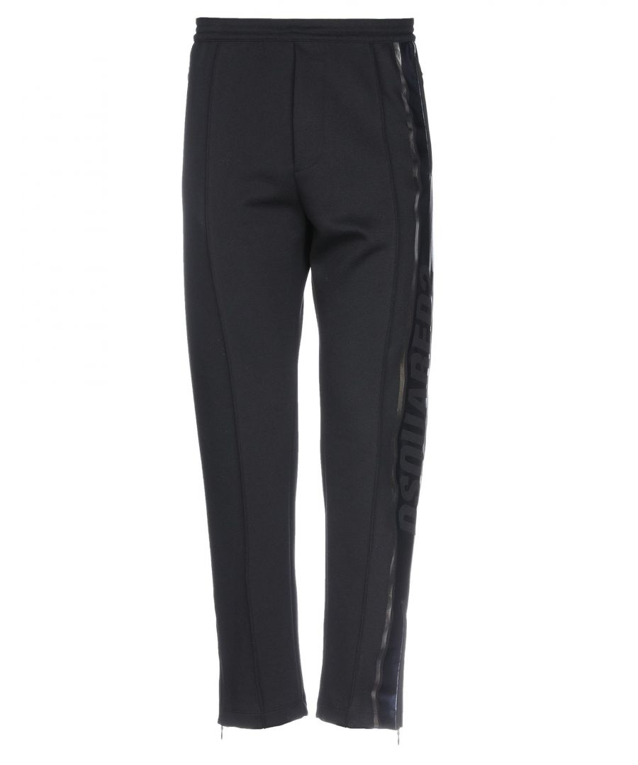 Image for Dsquared2 Black Cotton Straight Leg Trousers