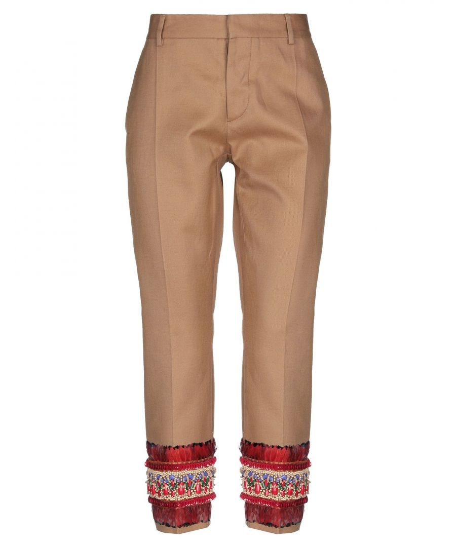 Image for Dsquared2 Sand Cotton Straight Leg Chino Trousers