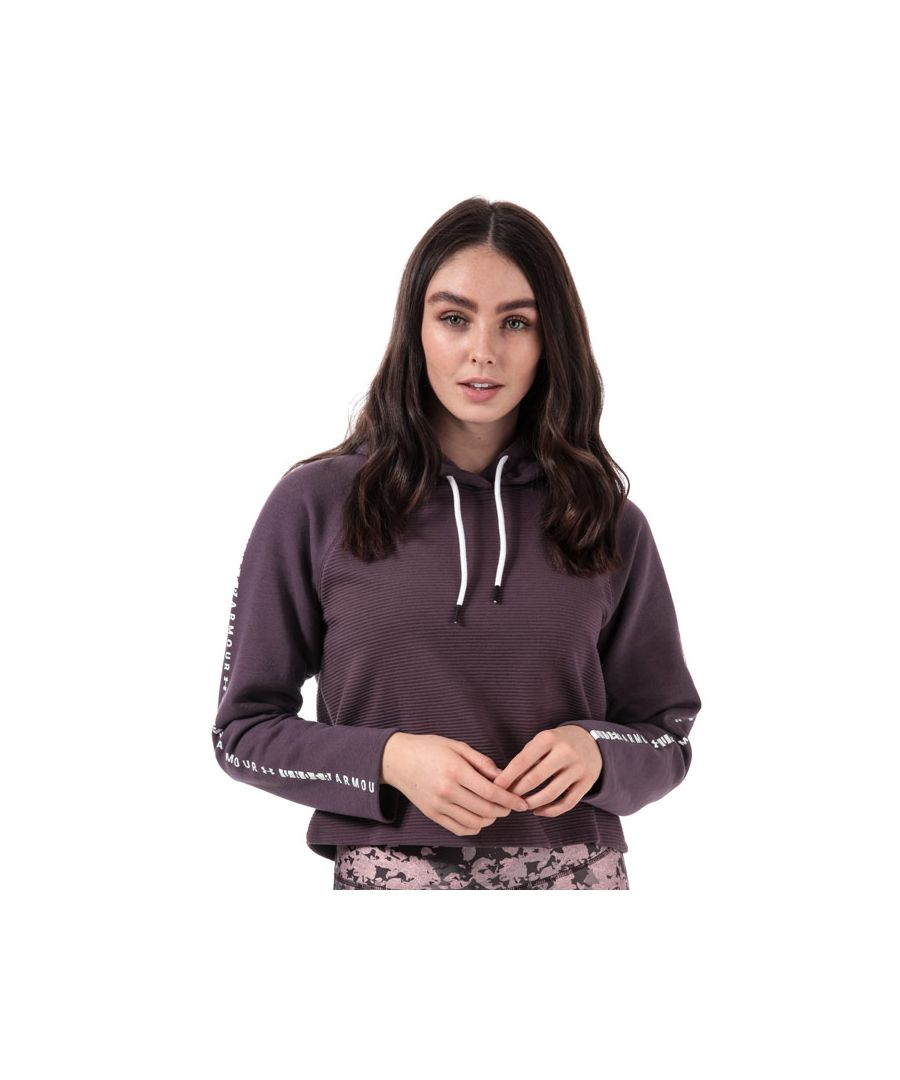 Image for Women's Under Armour Microthread Fleece Hoody in Purple