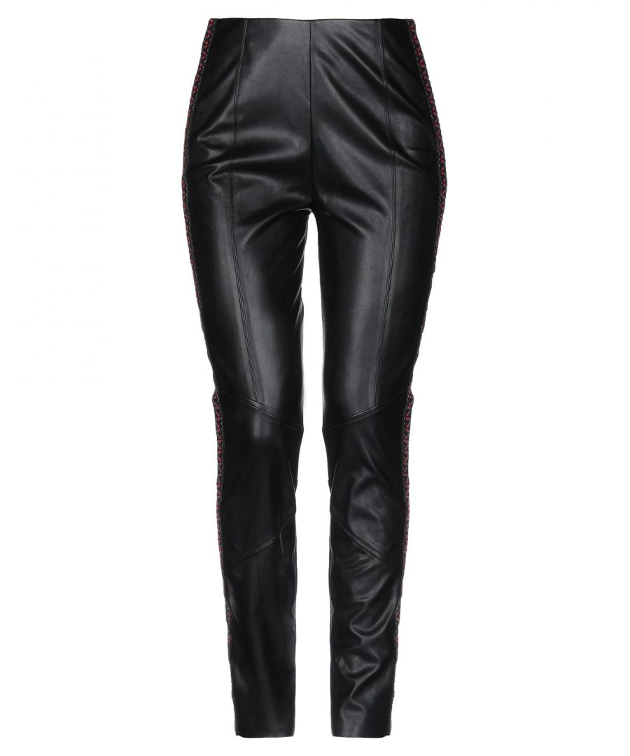 Image for Pinko Black Faux Leather Trousers