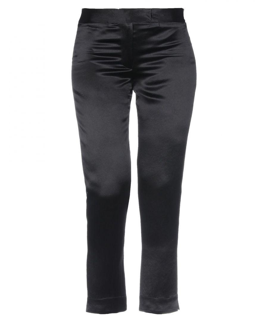 Image for Ann Demeulemeester Black Satin Trousers