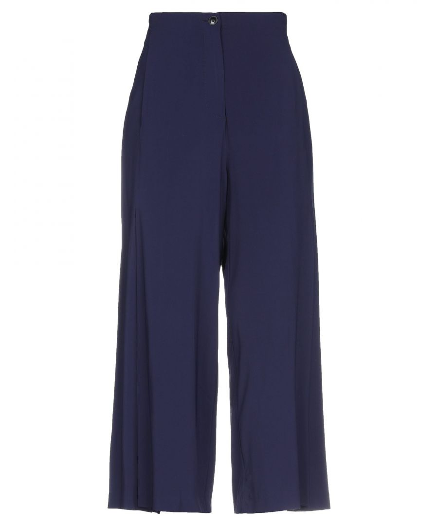 Image for Jucca Dark Blue Wide Leg Trousers