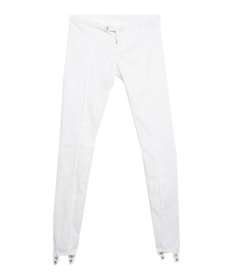 Image for Dsquared2 White Cotton Stretch Leggings
