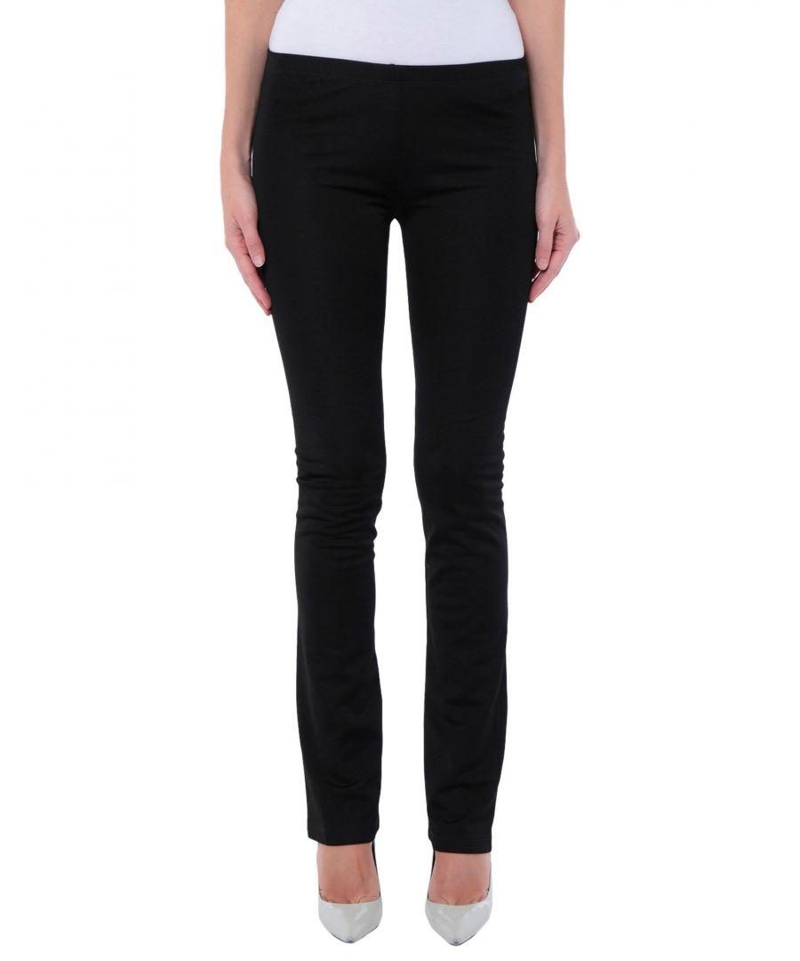 Image for MM6 Maison Margiela Black Cotton Trousers