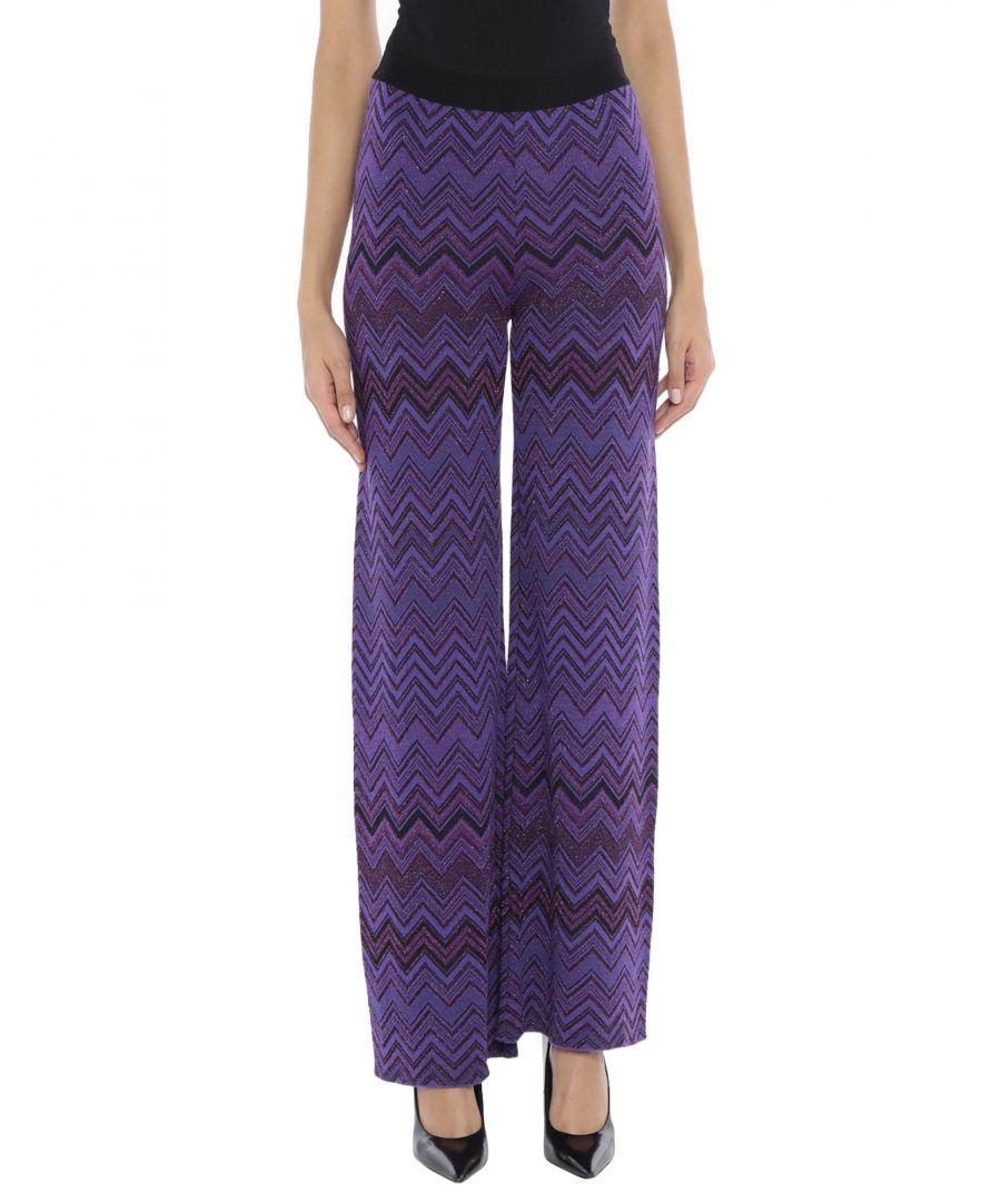 Image for Angela Davis Purple Knit Medium Weight Straight Leg Trousers