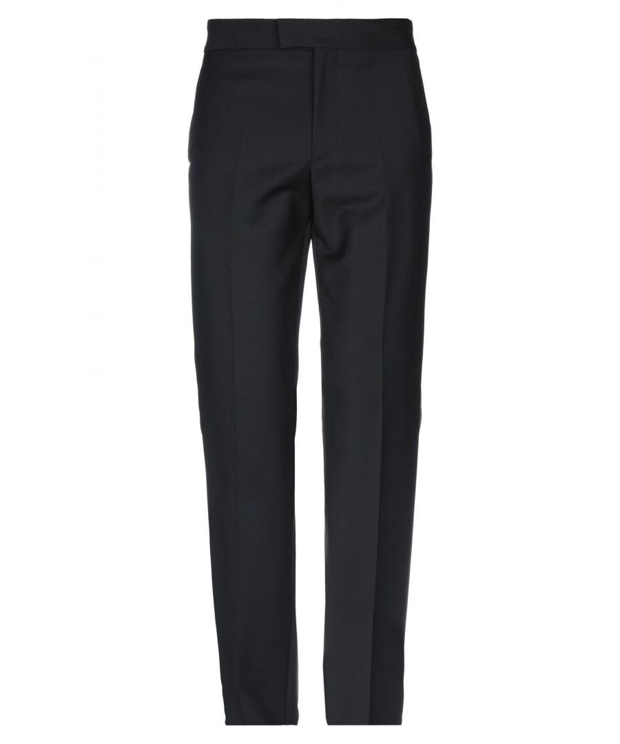 Image for Joseph Black Wool Tapered Leg Trousers