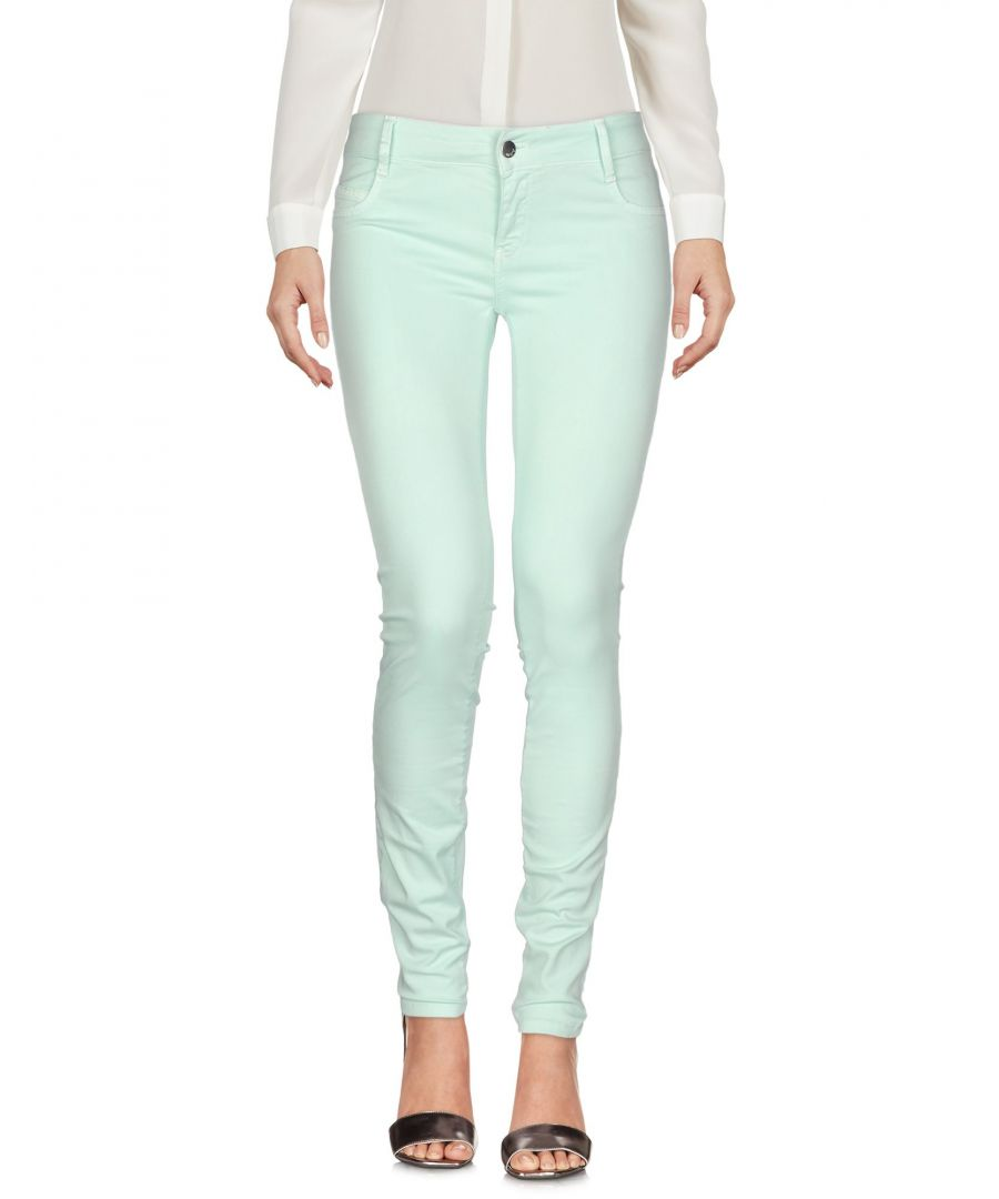 Image for Met Jeans Light Green Cotton High Waisted Trousers