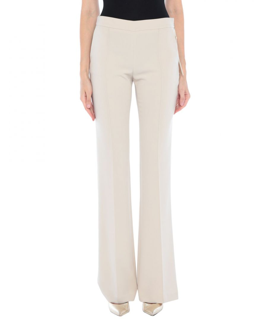 Image for Elisabetta Franchi Beige Crepe Tailored Trousers