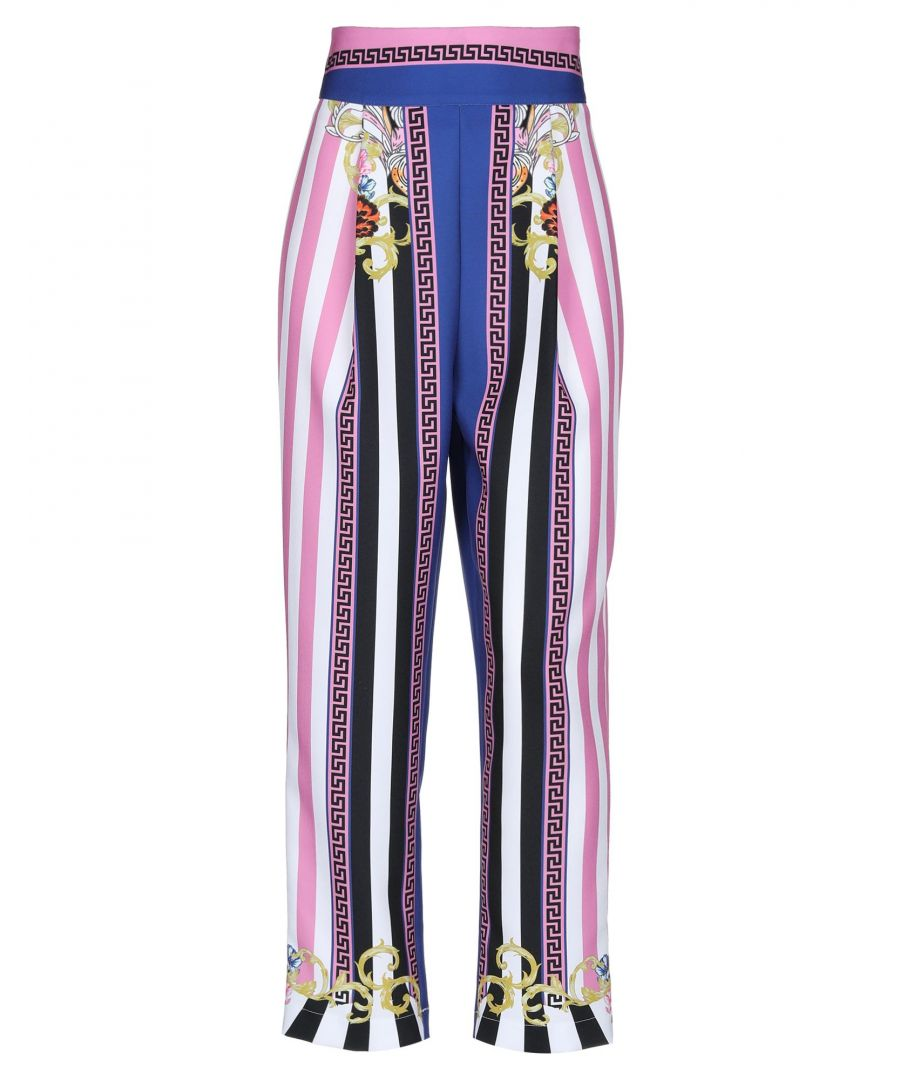 Image for Silvian Heach Pink Stripe Print Trousers