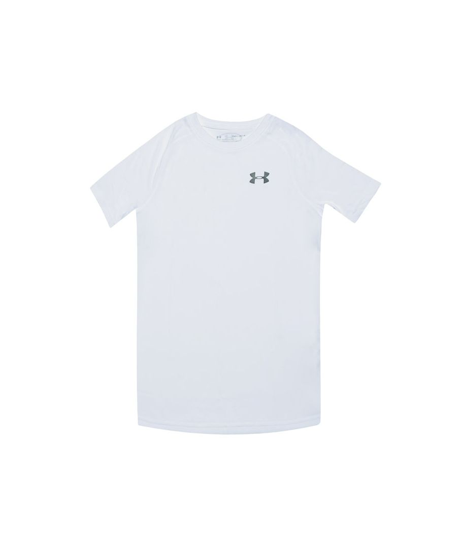 Image for Boy's Under Armour Junior Tech T-Shirt in White