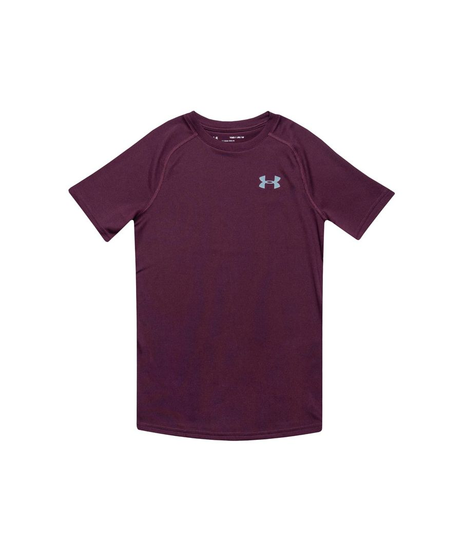 Image for Boy's Under Armour Junior Tech T-Shirt in Purple