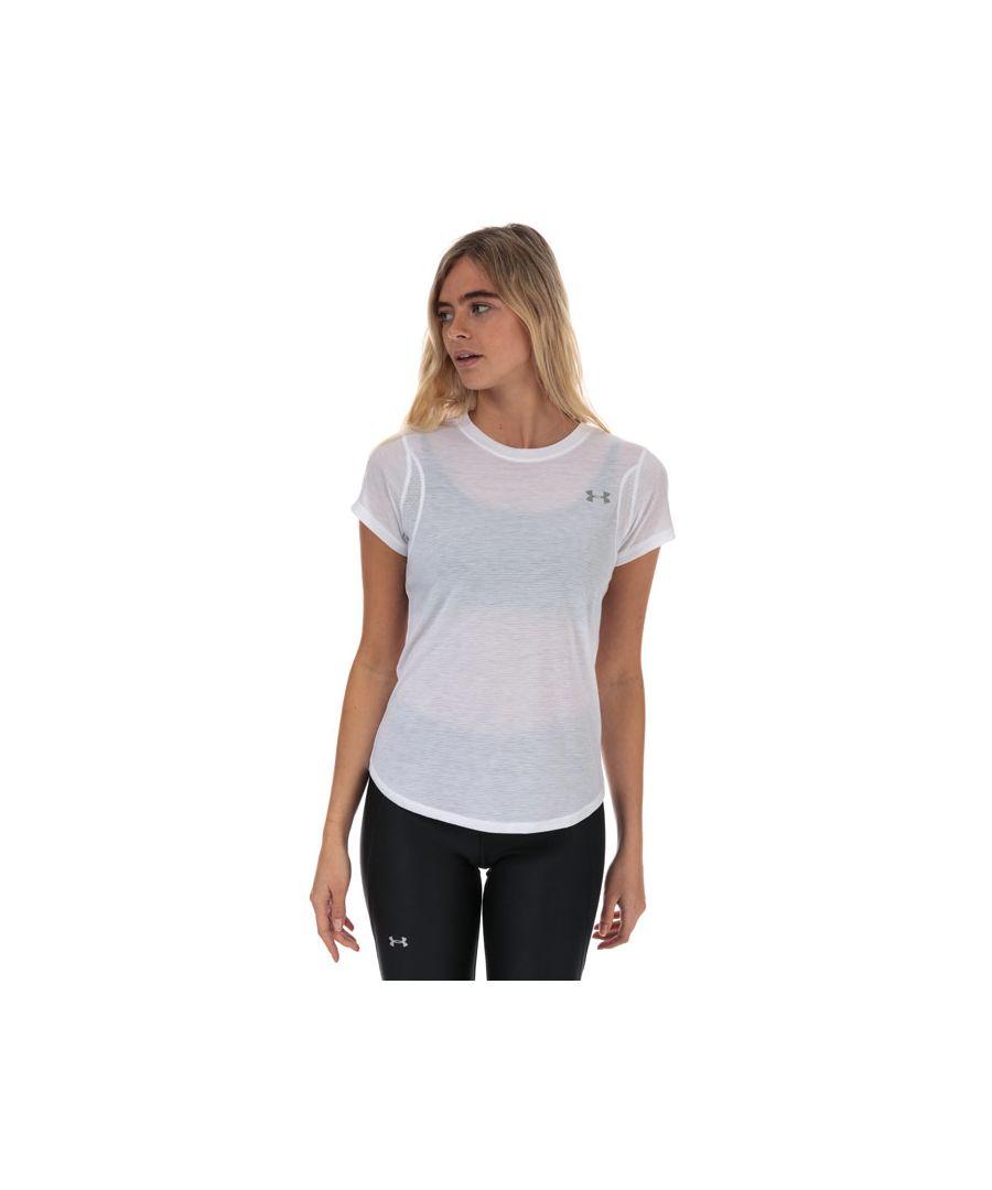 Image for Women's Under Armour UA Streaker 2.0 Short Sleeve T-Shirt in White