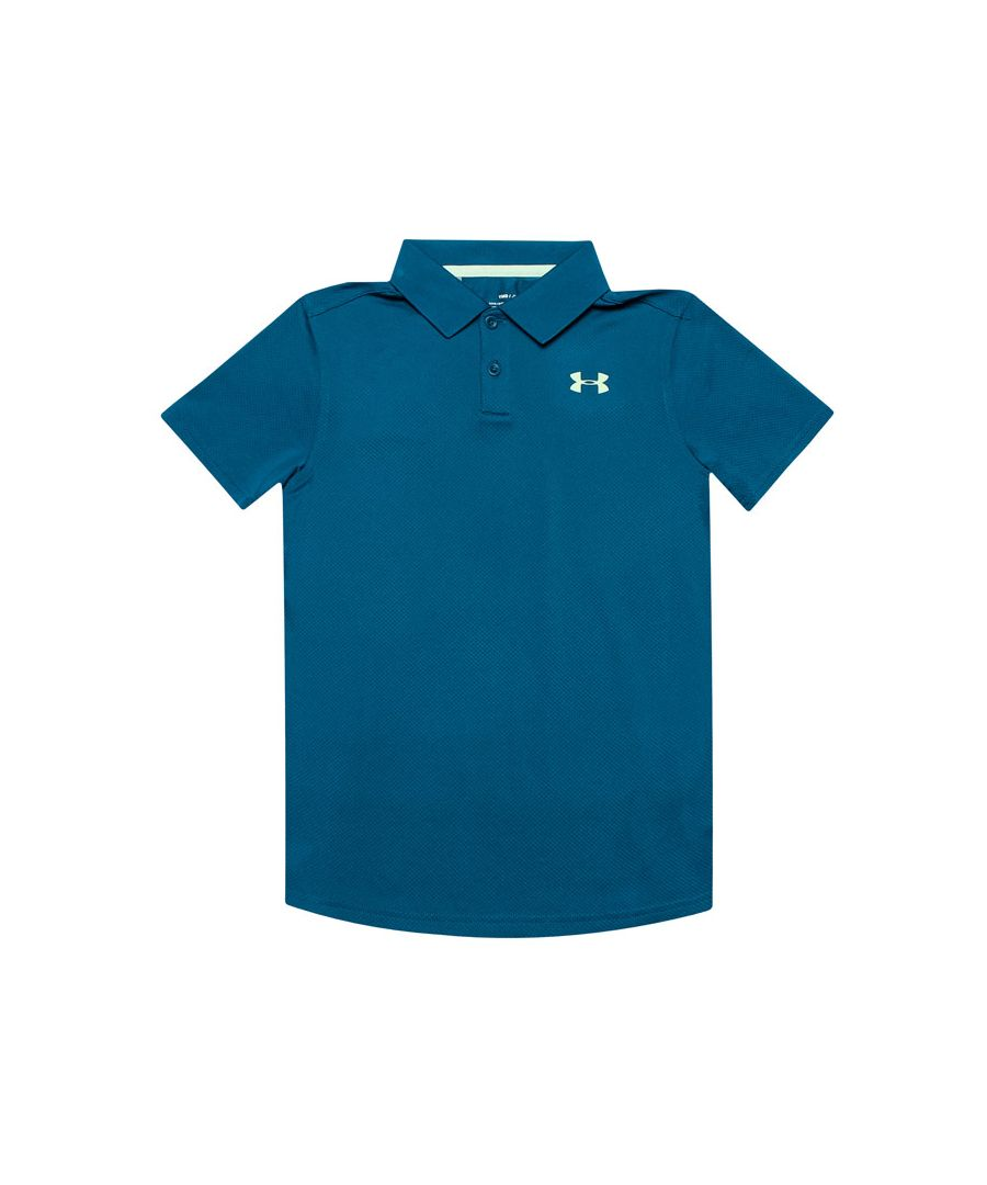 Image for Boy's Under Armour Junior Performance 2.0 Polo Shirt in Blue