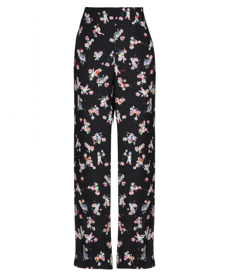 Image for Maison Margiela Black Floral Wide Leg Trousers