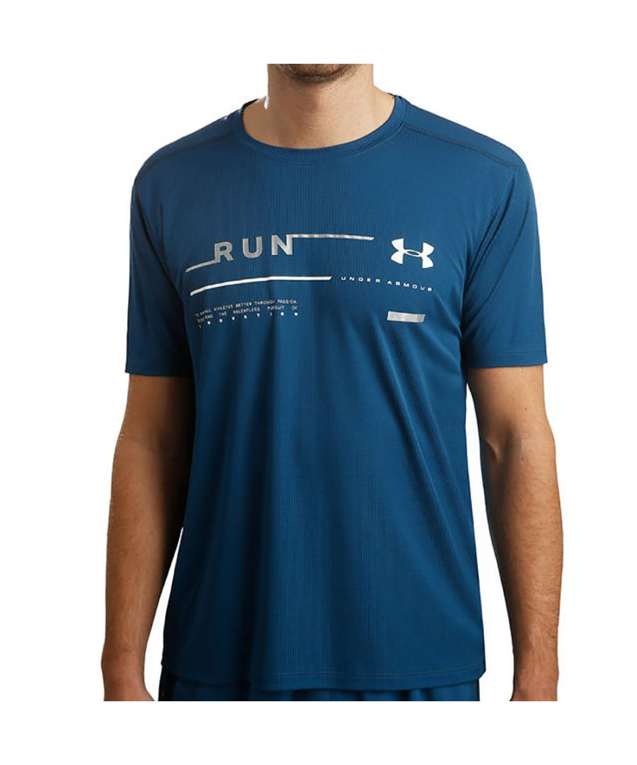 Image for Under Armour Mens Run Graphic Lightweight Wicking T Shirt