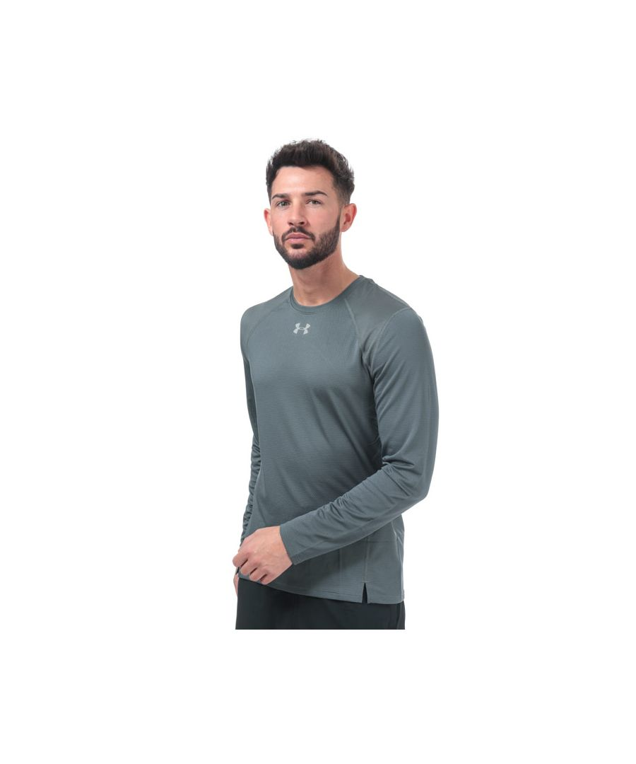 Image for Men's Under Armour Qualifier Long Sleeve T-Shirt in Grey