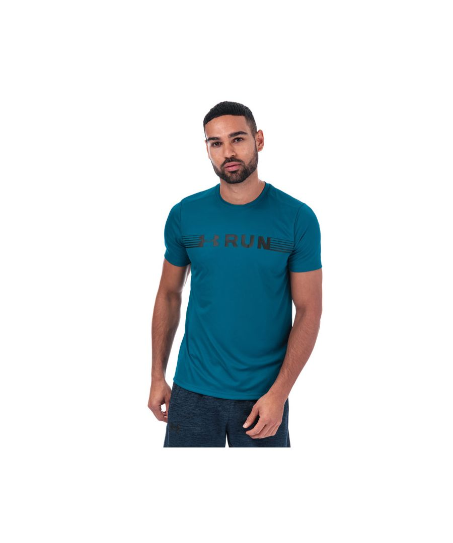 Image for Men's Under Armour Run Warped Short Sleeve T-Shirt in Green