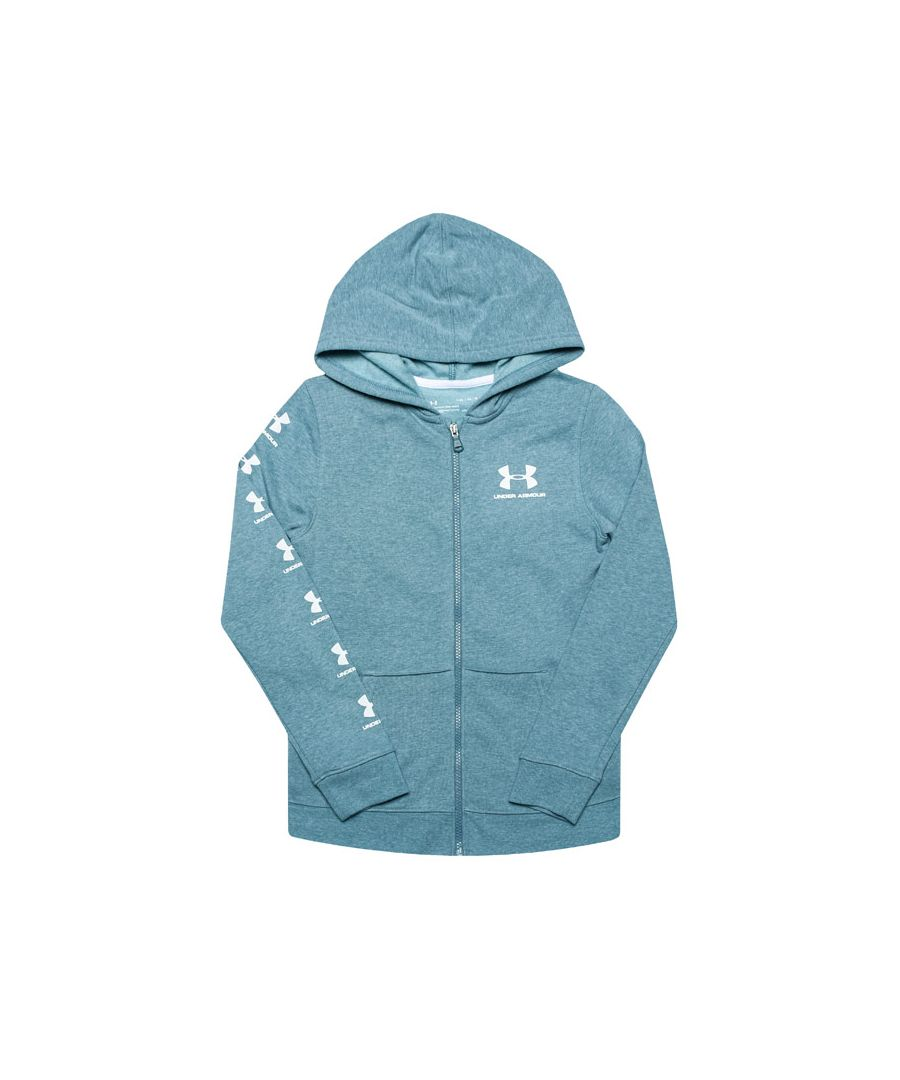 Image for Boy's Under Armour Junior Rival Full Zip Hoody in Blue