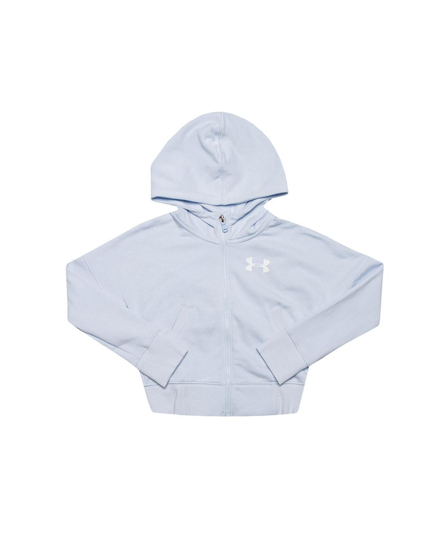 Image for Girl's Under Armour Junior Rival FZ Hoody in Blue