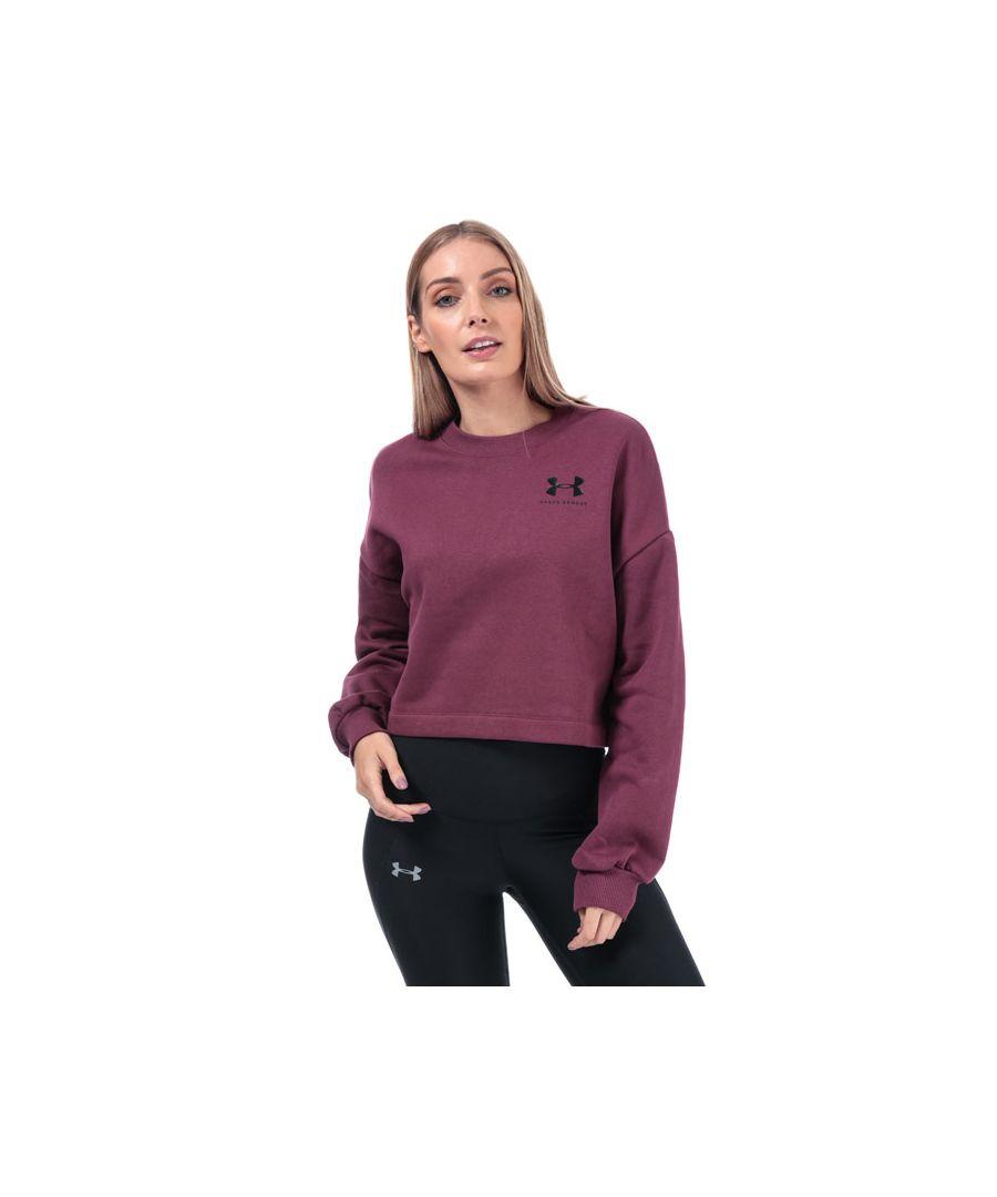 Image for Women's Under Armour Rival Fleece Graphic Crew Sweatshirt in Purple