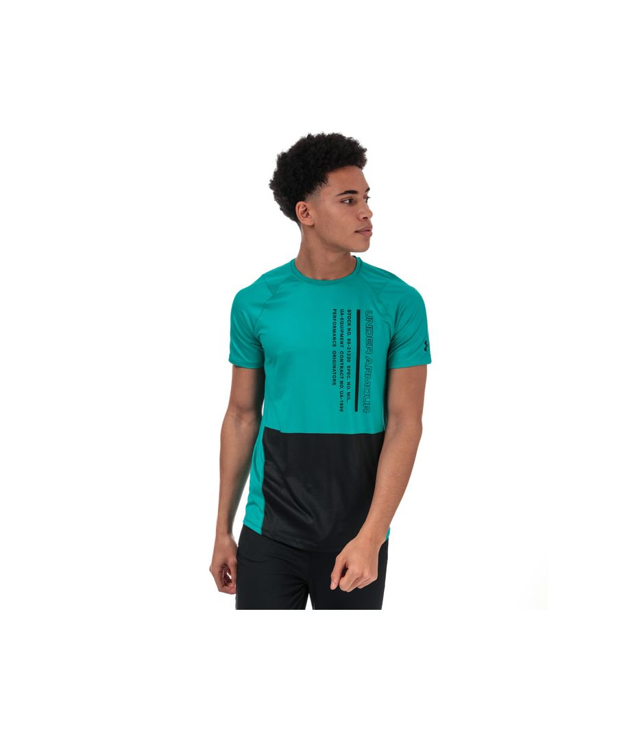 Image for Men's Under Armour UA MK-1 Colourblock T-Shirt in Green