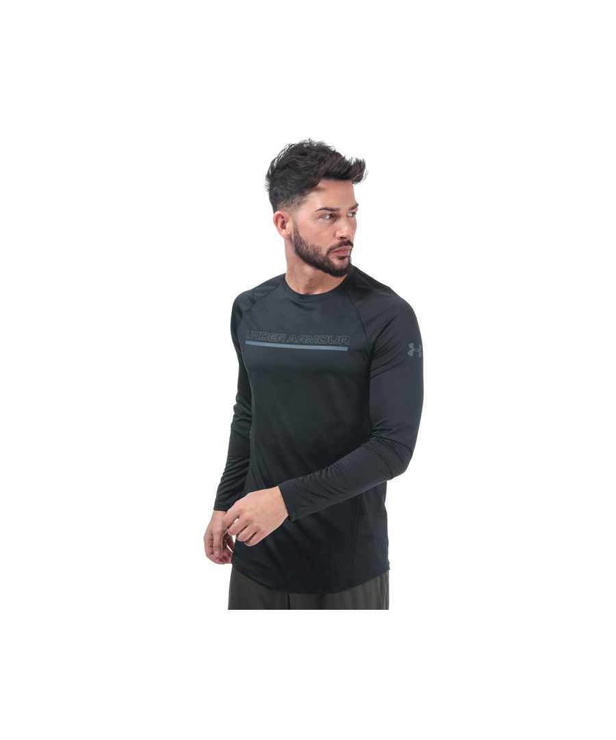Image for Men's Under Armour MK1 Long Sleeve Wordmark T-Shirt in Black