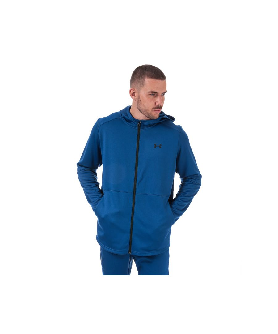 Image for Men's Under Armour UA MK-1 Warm-Up Full Zip Hoody in Blue