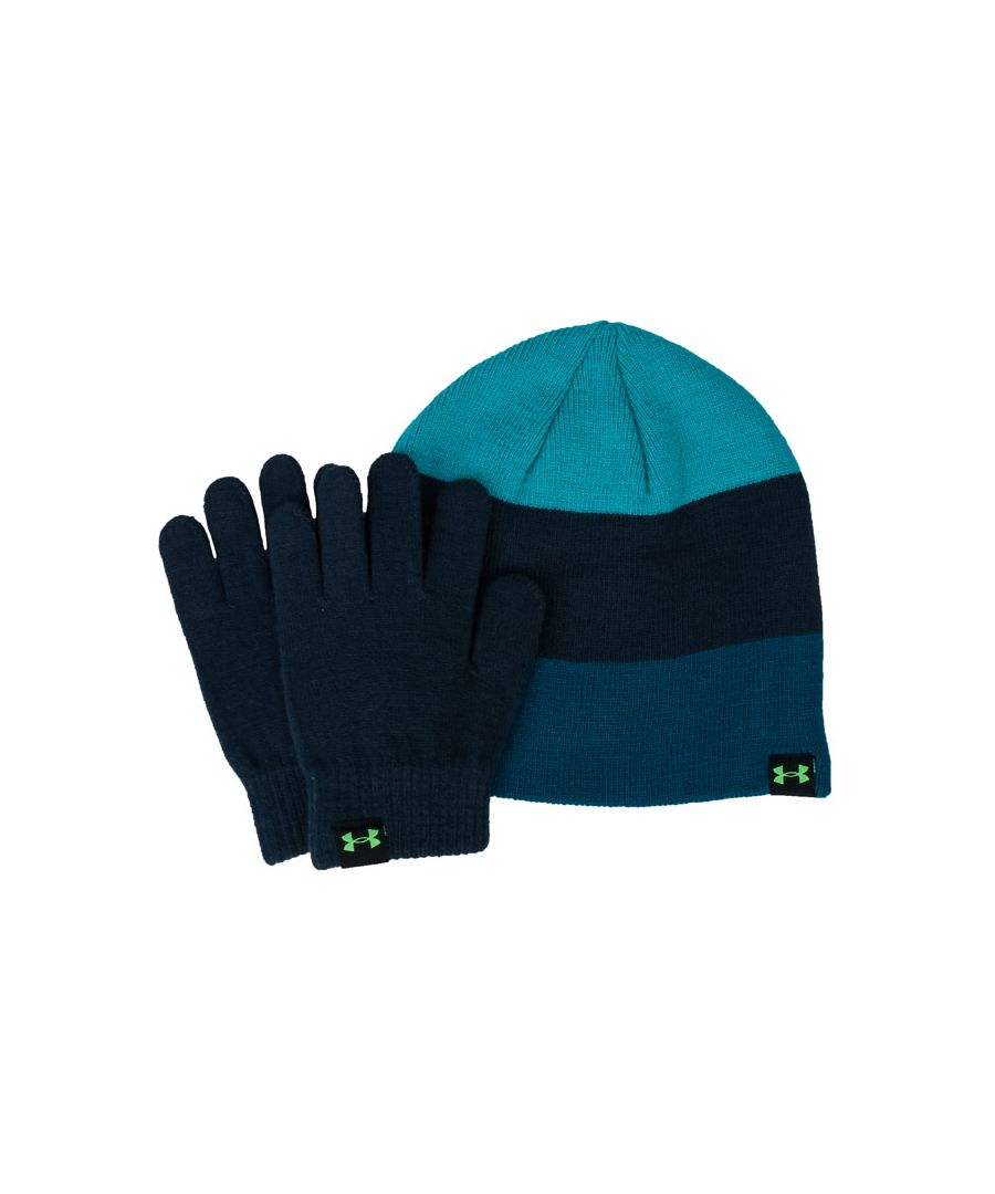 Image for Accessories Under Armour Beanie and Glove Set in Blue