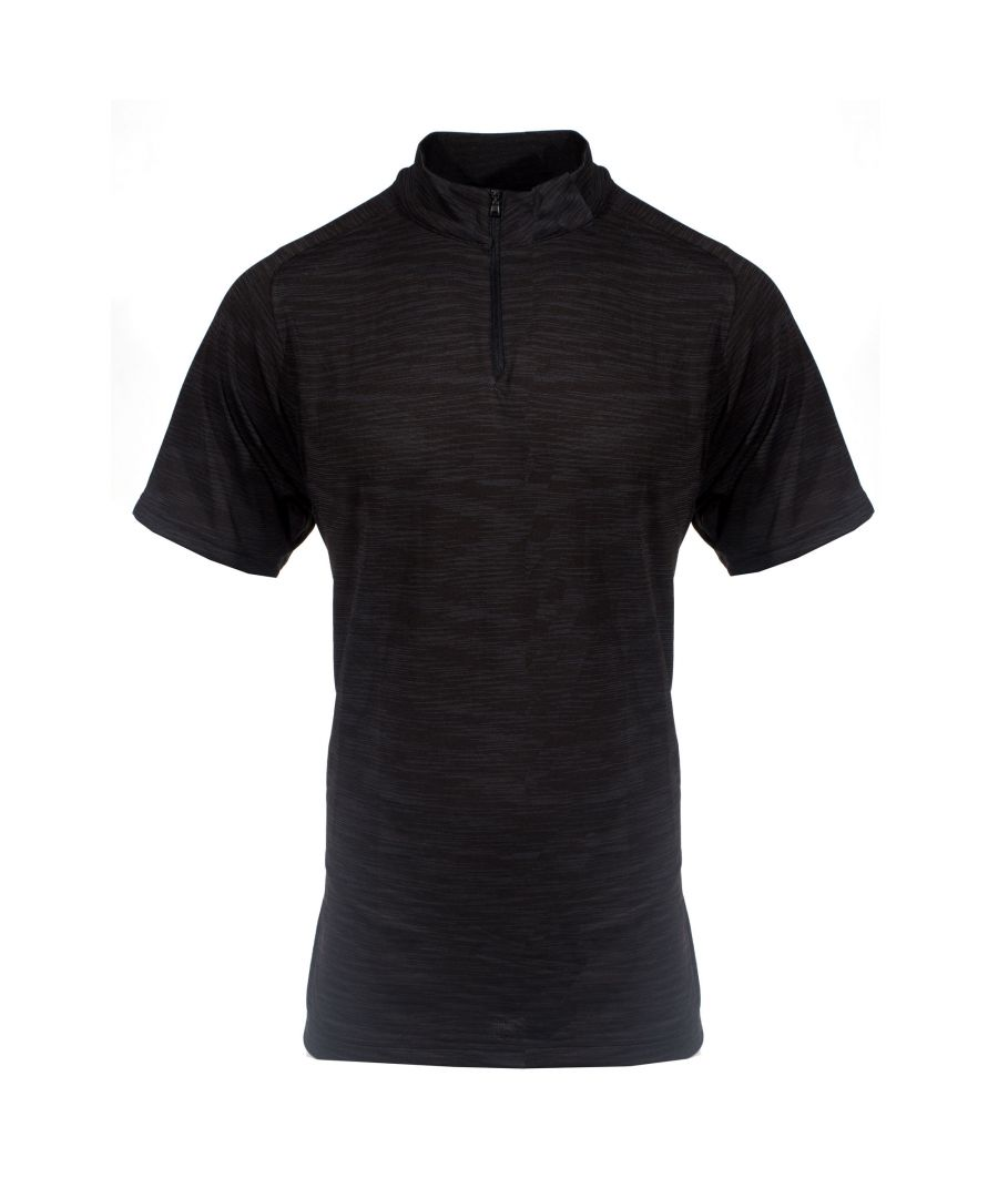 Image for Under Armour Golf Mens 1/4 Zip Short Sleeve Shirt Black