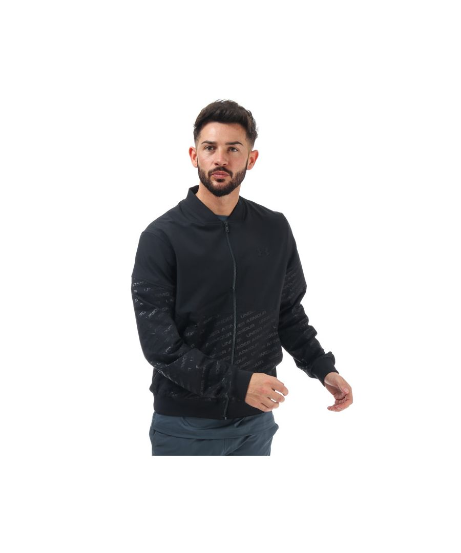 Image for Men's Under Armour Unstoppable Emboss Bomber Jacket in Black