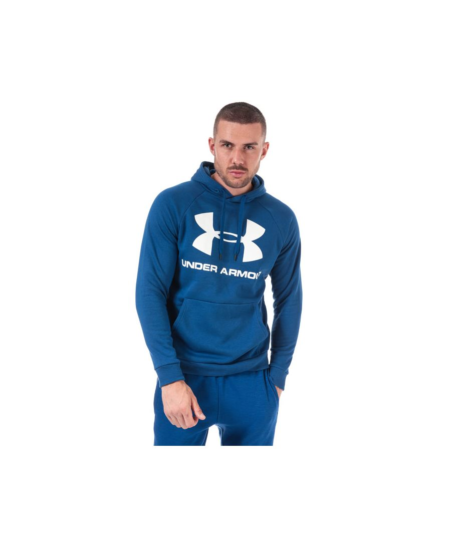 Image for Men's Under Armour UA Rival Fleece Logo Hoody in Blue