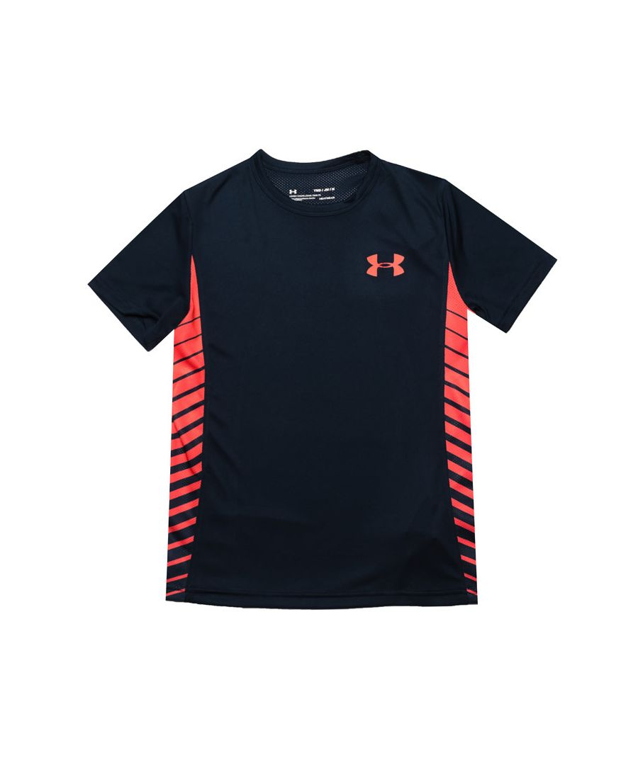 Image for Boy's Under Armour Junior Mark 1 T-Shirt in Navy