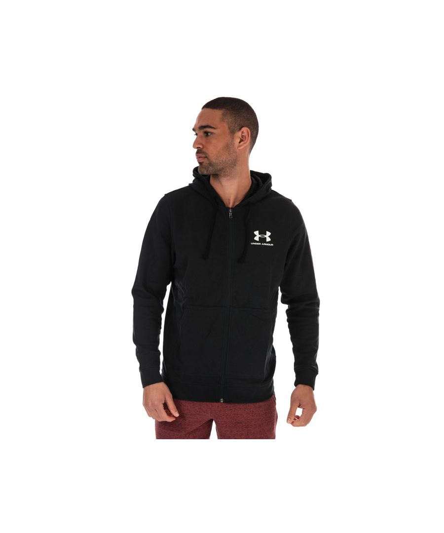 Image for Men's Under Armour Sportstyle Terry Full Zip Hoody in Black