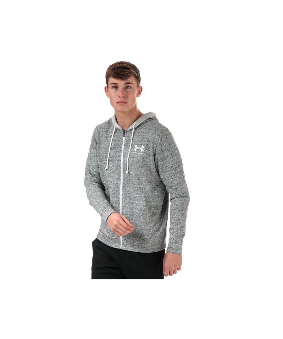 Image for Men's Under Armour Sportstyle Terry Full Zip Hoodie in White